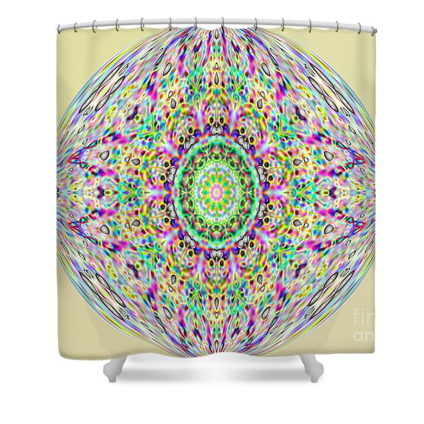 Softness. Art. Yellow Pink Design Shower Curtain