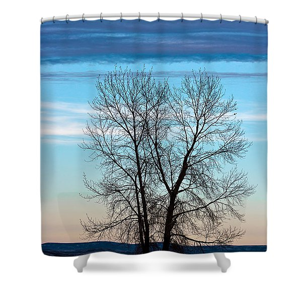 Soldier Creek Sunset Shower Curtain