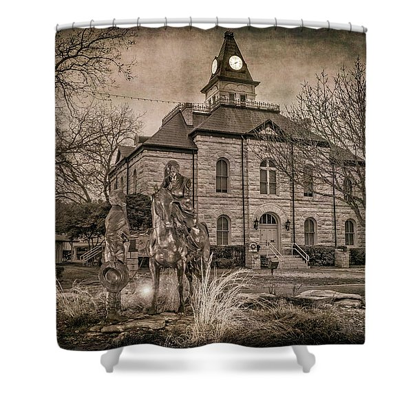 Somervell County Courthouse Shower Curtain