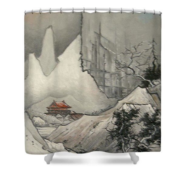 Somewhere In Japan Shower Curtain