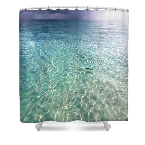 Somewhere Is Rainy. Maldives Shower Curtain