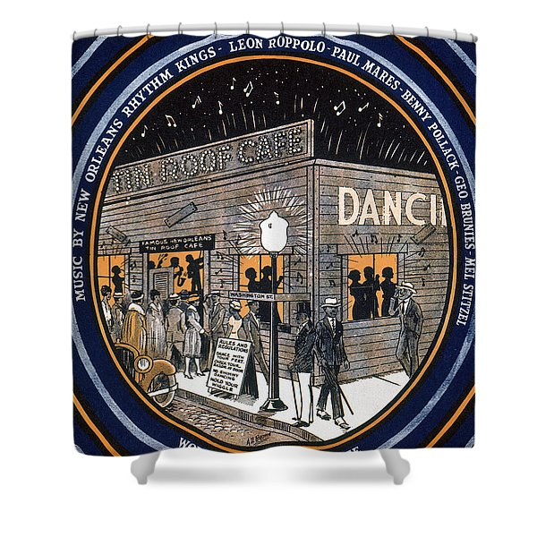 Songsheet Tin Roof Blues Shower Curtain