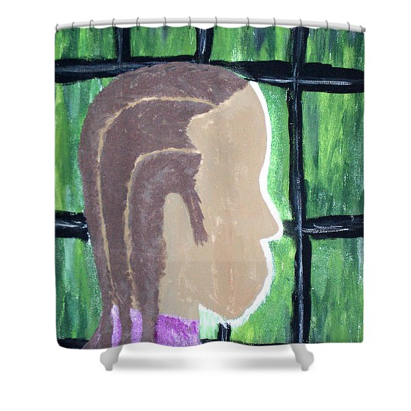 Abstract Man Art Painting  Shower Curtain