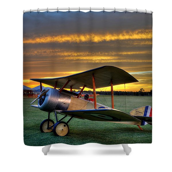 Sopwith Sunset Shower Curtain