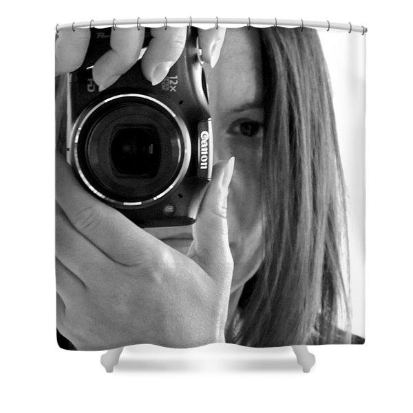 Soul-searching - Self-portrait Shower Curtain
