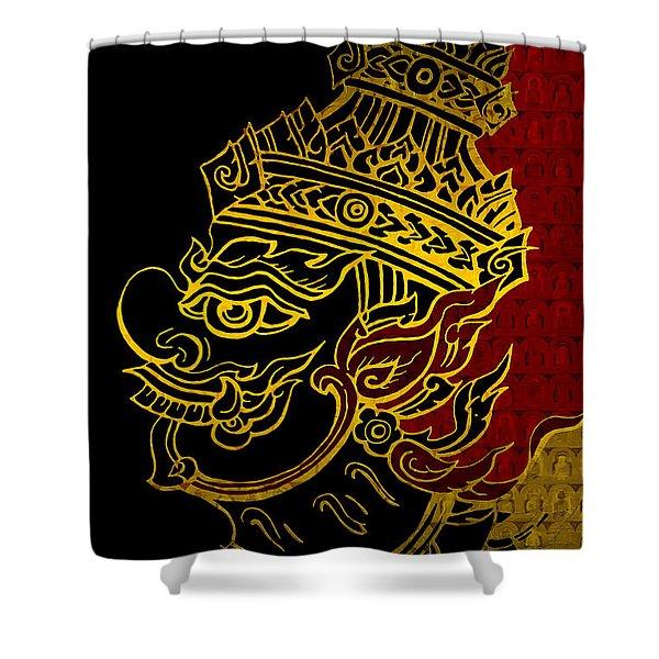 South Asian Art Motives Shower Curtain