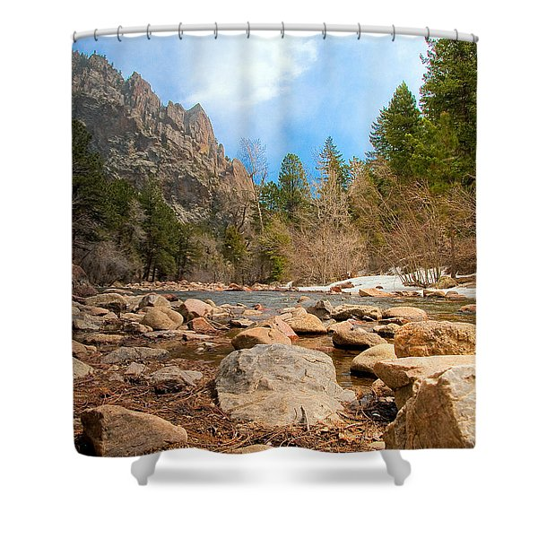 South Boulder Creek - Eldorado Canyon State Park Shower Curtain