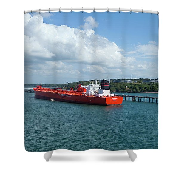 South Hook Lng Terminal, Milford Haven Shower Curtain