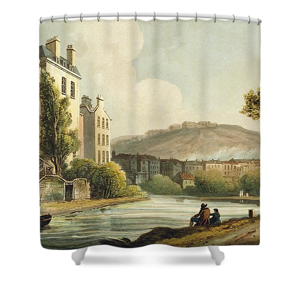 South Parade From Bath Illustrated Shower Curtain