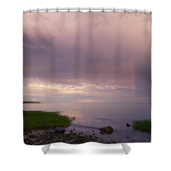 South Pine Creek Sunset Shower Curtain