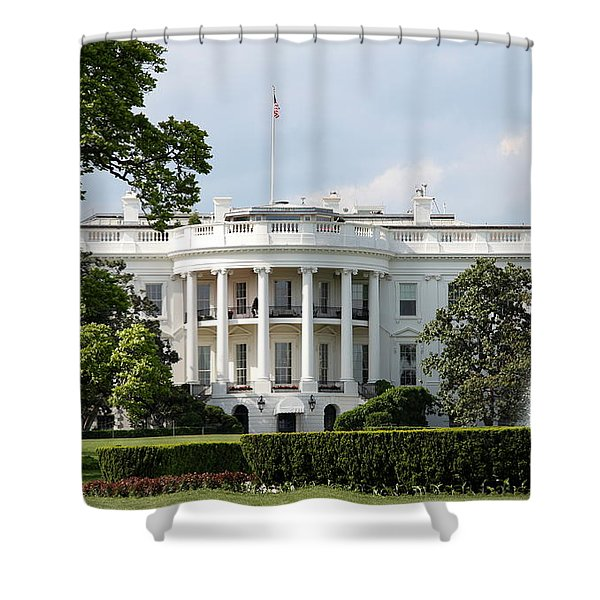 South Portico Of The White House Washington Dc Shower Curtain