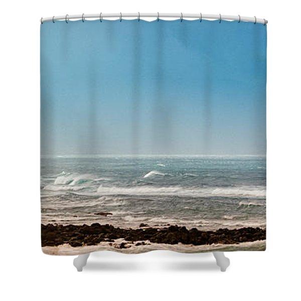 South Shore Maui Beach House Shower Curtain