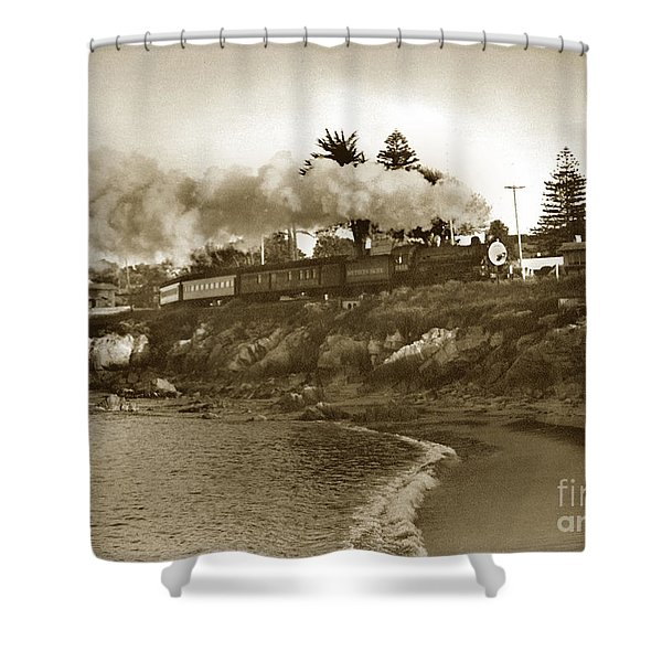 Southern Pacific Del Monte Passenger Train Pacific Grove Circa 1954 Shower Curtain