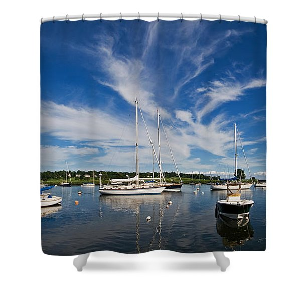 Southport Harbor Connecticut Shower Curtain