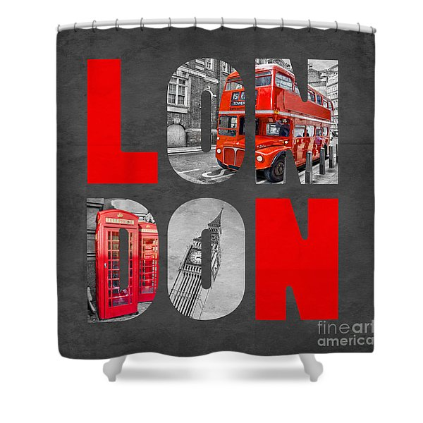 Souvenir Of London Shower Curtain