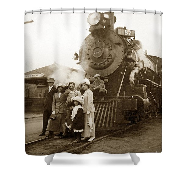 S P Baldwin Locomotive 2285  Class T-26 Ten Wheel Steam Locomotive At Pacific Grove California 1910 Shower Curtain