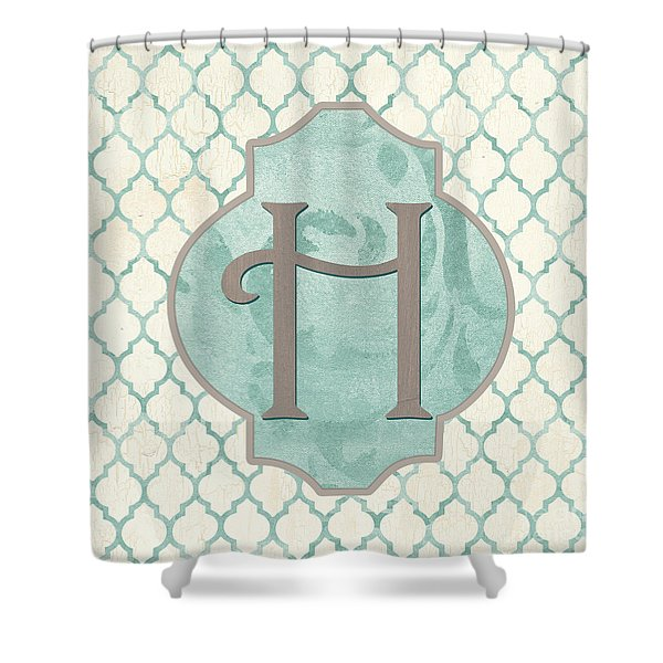 Spa Monogram Shower Curtain