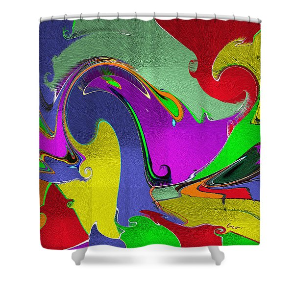 Space Interface Shower Curtain