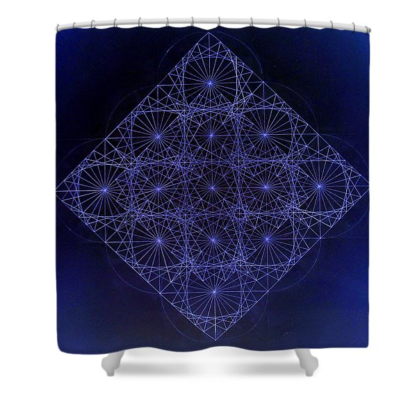 Space Time Sine Cosine And Tangent Waves Shower Curtain