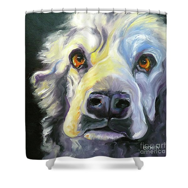 Spaniel In Thought Shower Curtain