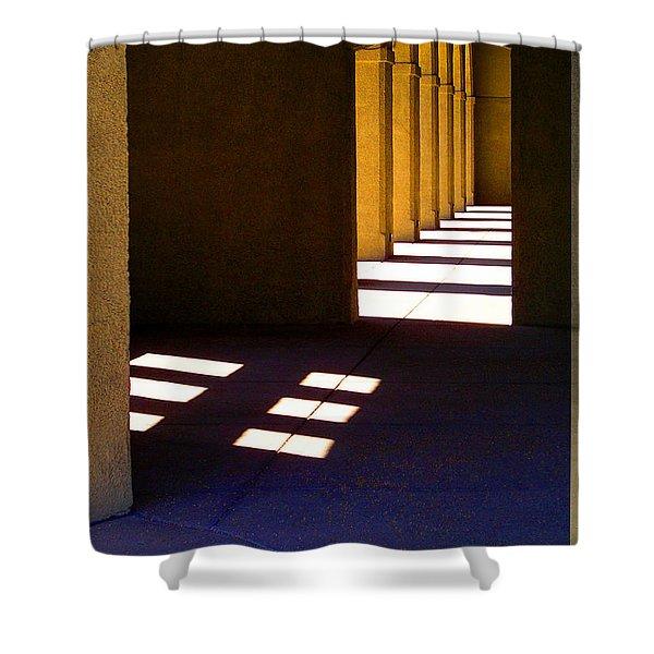 Spanish Arches Light Shadow Shower Curtain