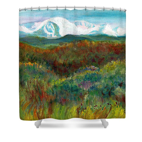 Spanish Peaks Evening Shower Curtain