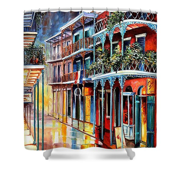 Sparkling French Quarter Shower Curtain