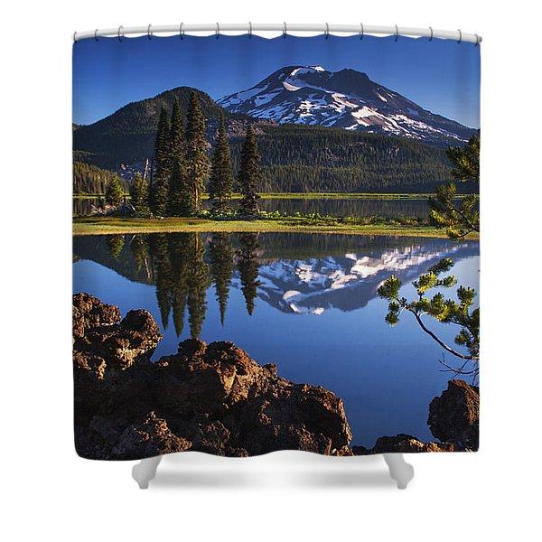 Sparks Lake Sunrise Shower Curtain