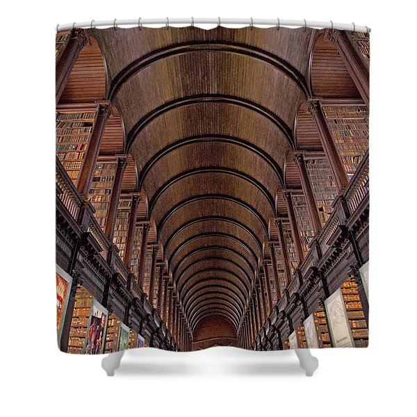 Speaking Shelves Of Trinity College Shower Curtain