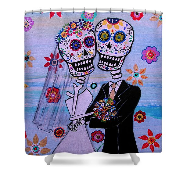 Special Day Dia De Los Muertos Wedding Shower Curtain