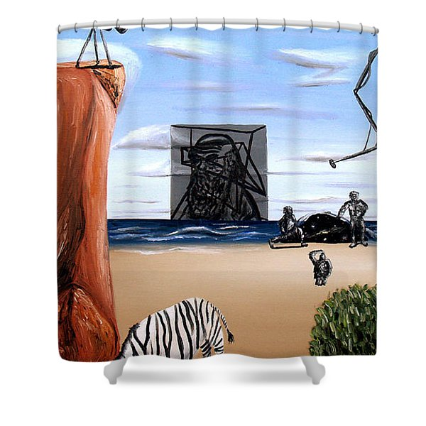 Species Differentiation -darwinian Broadcast- Shower Curtain