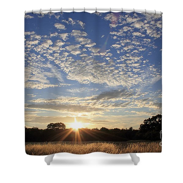 Spectacular Sunset England Shower Curtain