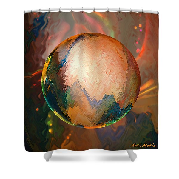 Sphering Lunar Vibrations Shower Curtain