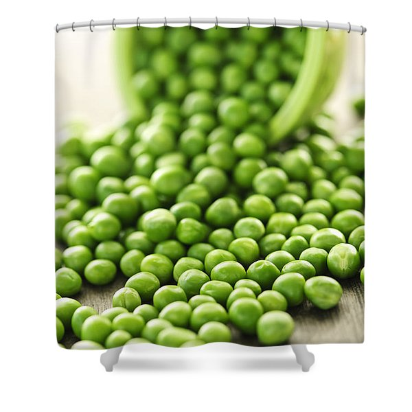 Spilled Bowl Of Green Peas Shower Curtain