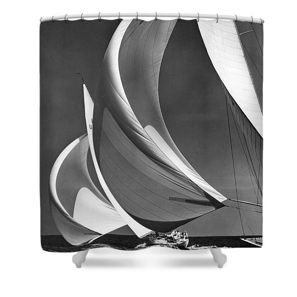 Spinakers On Racing Sailboats Shower Curtain