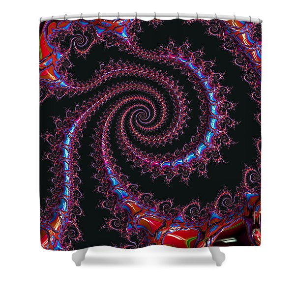 Spinal Twist Shower Curtain