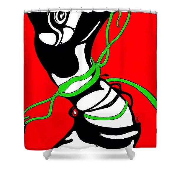 Spinner Shower Curtain