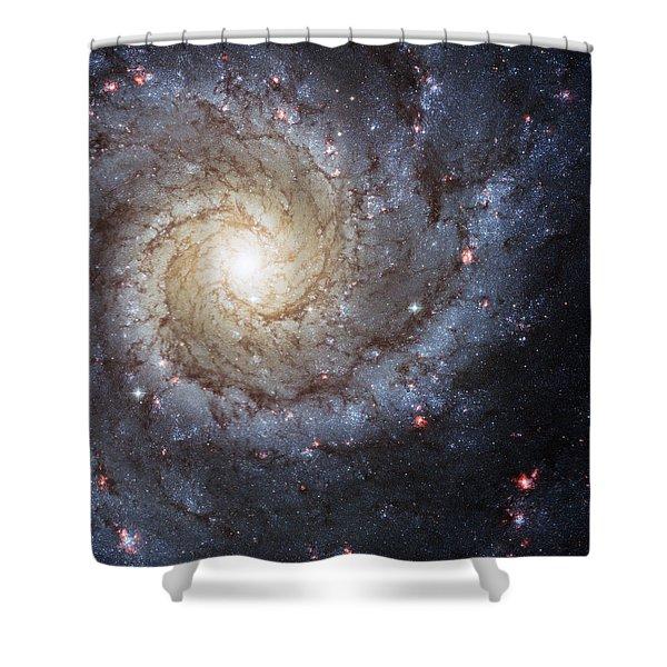 Spiral Galaxy M74 Shower Curtain
