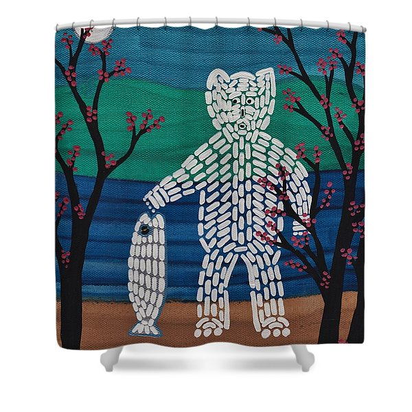 Spirit Bear Bella Coola Shower Curtain