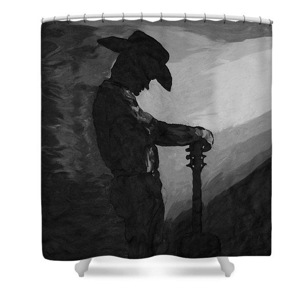 Spirit Of A Cowboy Shower Curtain