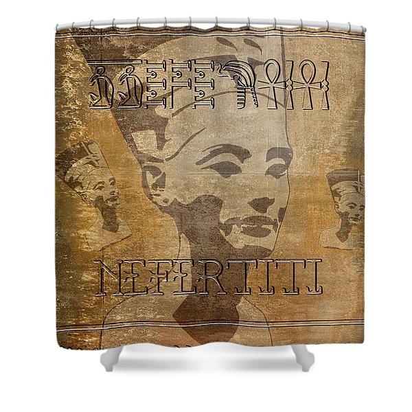Spirit Of Nefertiti Egyptian Queen   Shower Curtain