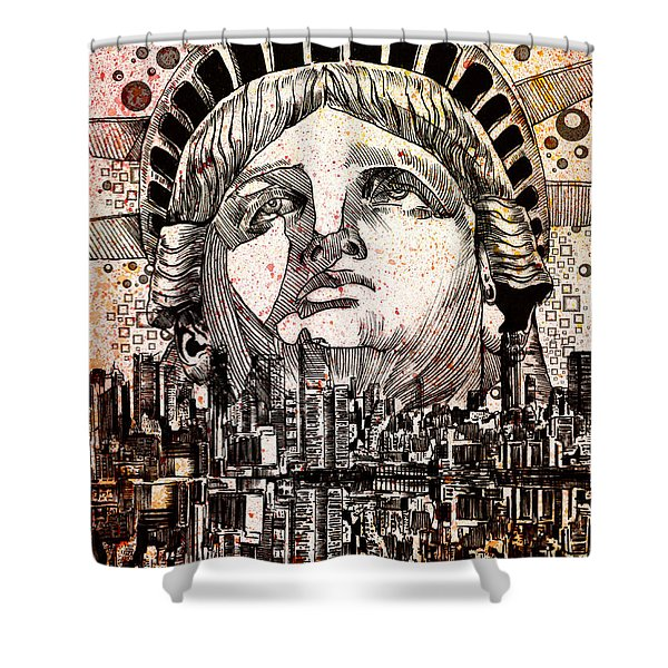 Spirit Of The City 3 Shower Curtain