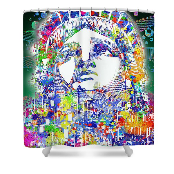 Spirit Of The City 4 Shower Curtain