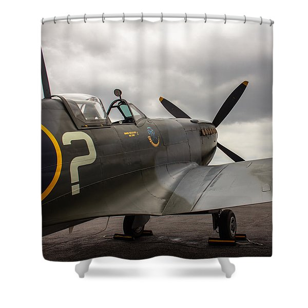 Spitfire On Display Shower Curtain