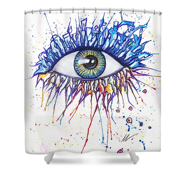 Splash Eye 1 Shower Curtain