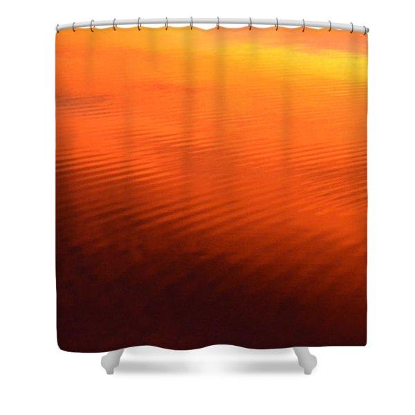 Splash Of Sunset  Shower Curtain