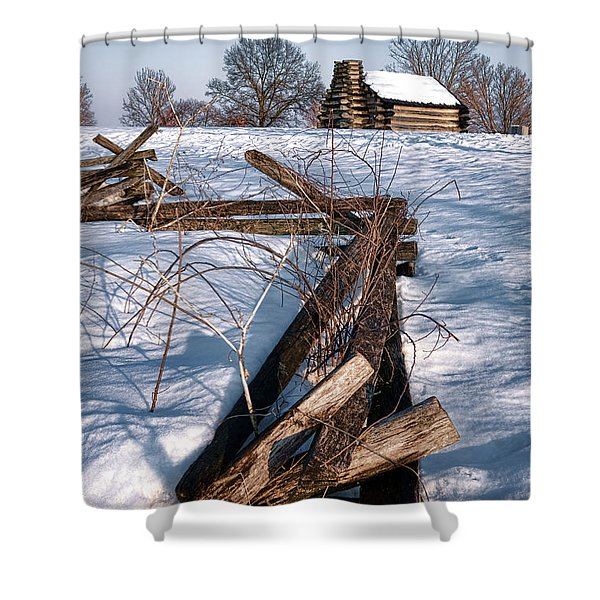 Split Rail And Nation Shower Curtain