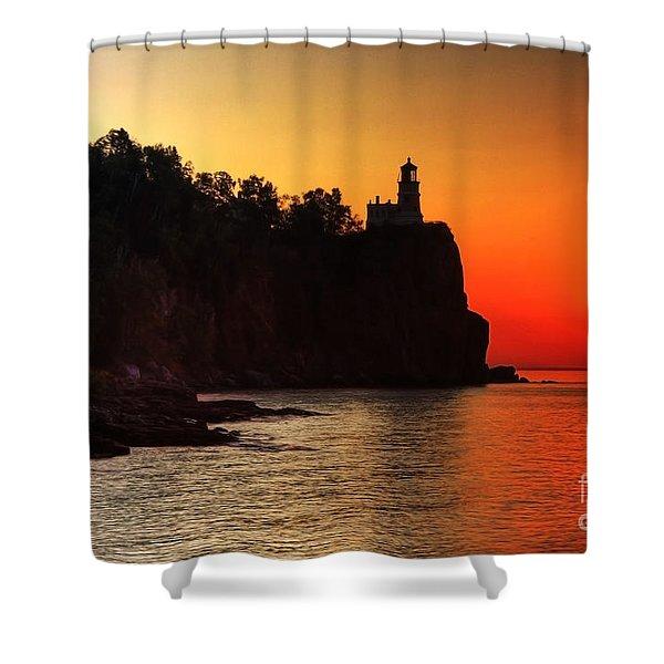Split Rock Lighthouse - Sunrise Shower Curtain