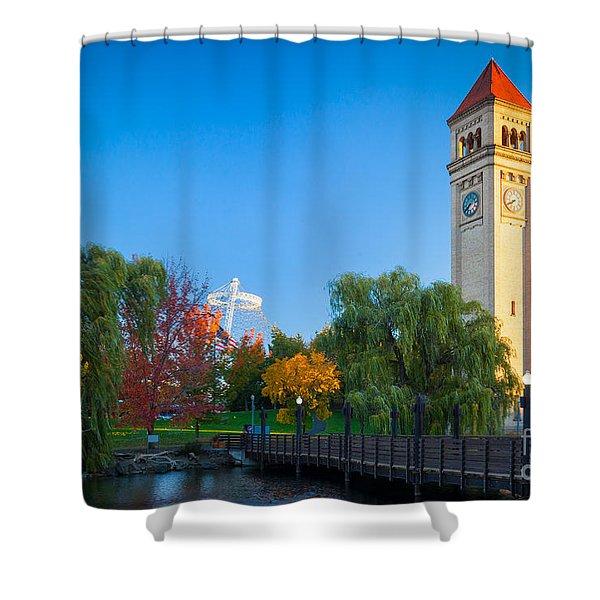 Spokane Fall Colors Shower Curtain