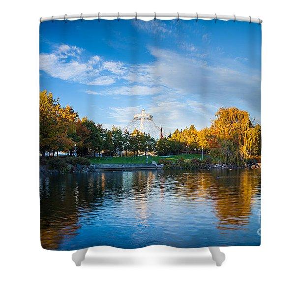 Spokane Reflections Shower Curtain